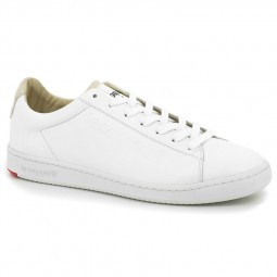 Chaussures Le Coq Sportif Blazon blanches beige