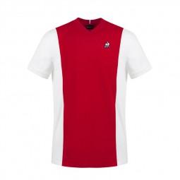 T-shirt Le Coq Sportif Bicolore rouge blanc