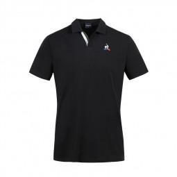 Polo Le Coq Sportif Tricolore noir