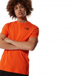 T-shirt manches raglan The North Face orange