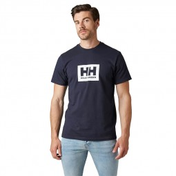 T-shirt Helly Hansen Box T bleu marine
