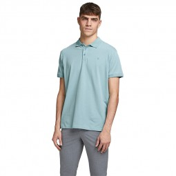 Polo Jack & Jones Lalogo bleu ciel