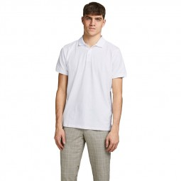 Polo Jack & Jones Lalogo blanc