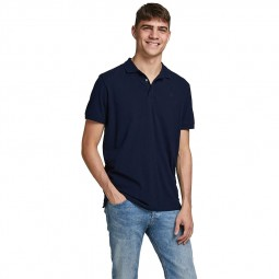 Polo Jack & Jones Lalogo bleu marine