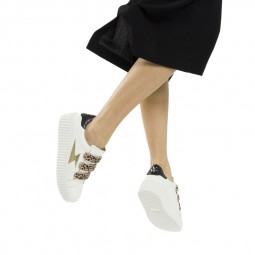 Chaussures Vanessa Wu blanc leopard