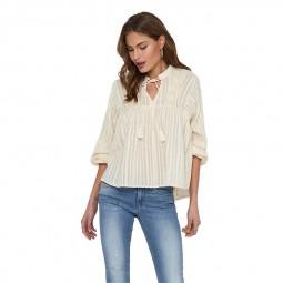 Top blouse à nouer Only beige