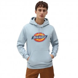 Sweat à capuche Dickies Icon Logo bleu ciel