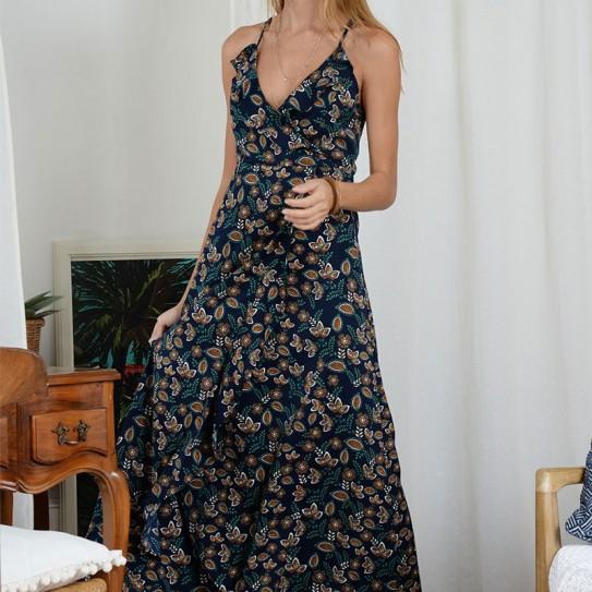 Robe longue imprimée Molly Bracken