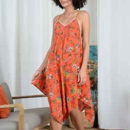 Robe asymétrique Molly Bracken orange
