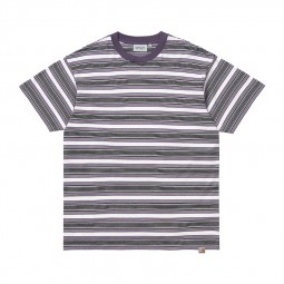 T-shirt manches courtes Carhartt Otis blanc rayé violet