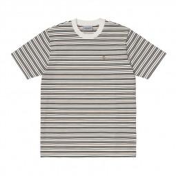 T-shirt manches courtes Carhartt Akron blanc rayé