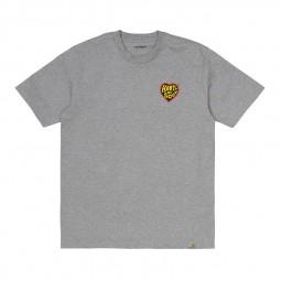 T-shirt Carhartt WIP Heartt of Soul gris