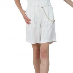 Bermuda Lili Sidonio blanc rayé