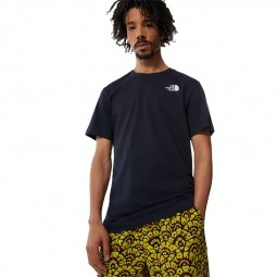 T-shirt manches Redbox The North Face bleu marine