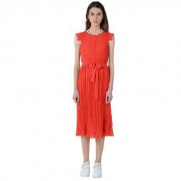 Robe mi-longue plissée Lili Sidonio orange