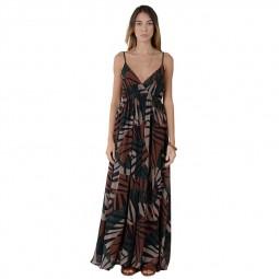 Robe longue imprimée Molly Bracken tropical