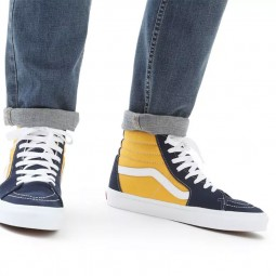 Chaussures Vans SK8-Hi jaune bleu marine