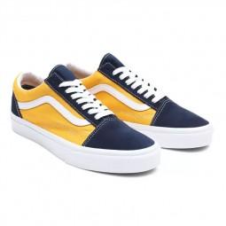 Chaussures Vans Old Skool Classic Sport jaune bleu marine