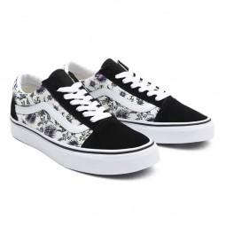 Chaussures Vans Old Skool paradise floral noir