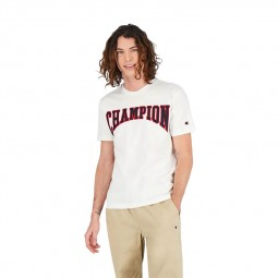 T-shirt Champion logo université blanc