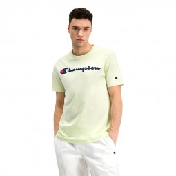 T-shirt Champion logo jaune pale honeydew