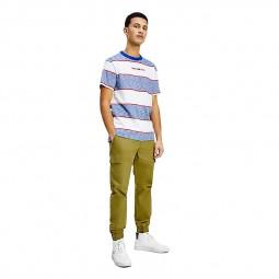 T-shirt rayé Tommy Jeans Stripe Linear Tee bleu blanc