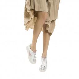 Chaussures Vanessa Wu blanc argent glitter
