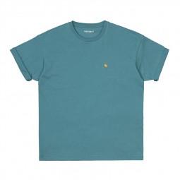 T-shirt manches courtes Carhartt Chase bleu vert