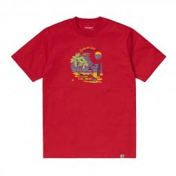 T-shirt manches courtes Carhartt Beach rouge