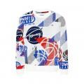 Pull en maille basket Tommy Jeans blanc basketball