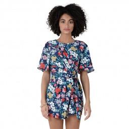Combinaison short Molly Bracken bleu marine imprimé floral