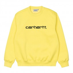 Sweat col rond Carhartt jaune vif