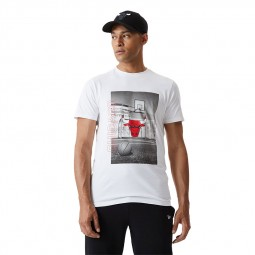 T-shirt photo New Era Chicago Bulls blanc