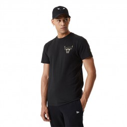 T-shirt metallic New Era Chicago Bulls noir