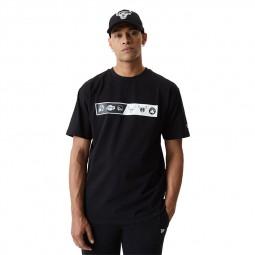 T-shirt New Era logo NBA noir équipes