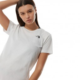 T Shirt The North Face S/S Simple Dome femme blanc