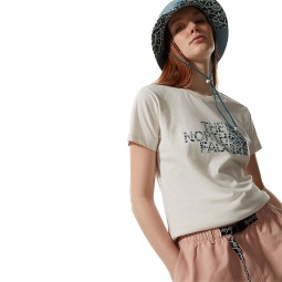T-shirt femme The North Face S/S Easy Tee beige