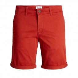 Short chino Jack & Jones rouge bordeaux