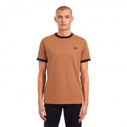 T-Shirt Fred Perry M3519 marron