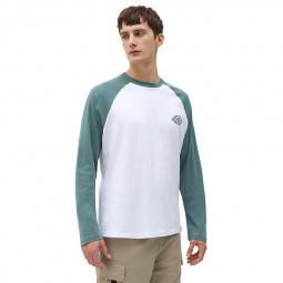 T-shirt Dickies Cologne blanc vert