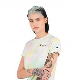 T-shirt Champion imprimé All Over Tie & Dye pêche