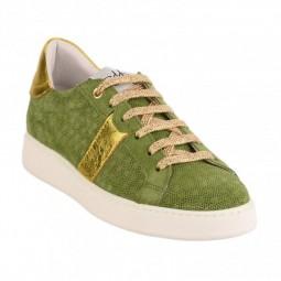 Chaussures Vaddia 10319 vert doré