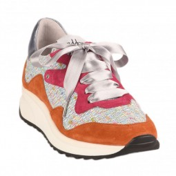 Chaussures Vaddia multicolore lacets satin