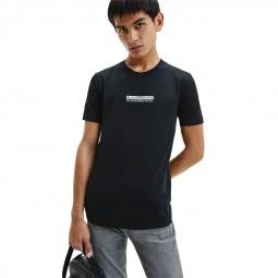 T-shirt Calvin Klein noir logo miroir