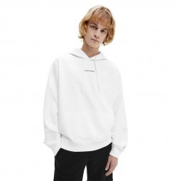 Sweat capuche Calvin Klein blanc