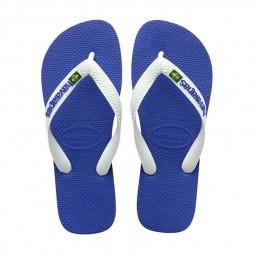 Tongs Havaianas Brasil Logo bleu dur