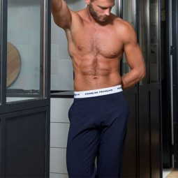 Pantalon de pyjama Garçon Français bleu marine