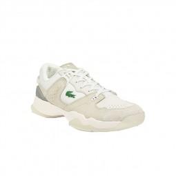 Chaussure Lacoste T-Clip blanc crème