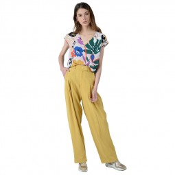 Pantalon extra large Lili Sidonio jaune