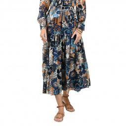Jupe longue imprimé floral Molly Bracken